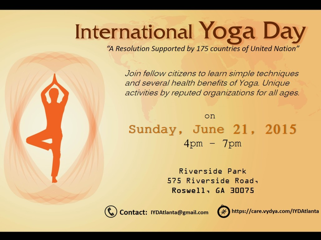 International Yoga Day 2015 - Atlanta